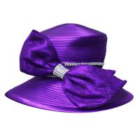Best Lace Covered Big Bow Satin Braid Ladies' Church Hats , ladies formal hats wholesale