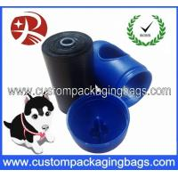 Quality Black Pet Waste Dog Poop Bags Oxo-biodegradable With Blue Dispenser for sale