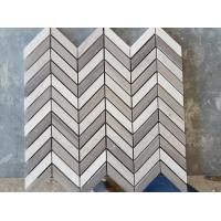 Quality White Arrows Marble Mosaic Tile For Hotel / Restaurant Bathroom Wall for sale