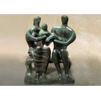 Quality Handmade Lovely Family Life Size Bronze Statues Antique Design Customized Size for sale