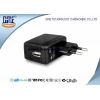 Buy EU Switching AC DC Power Adapter , 1A Universal Wall Adapter Usb Lightweight at wholesale prices