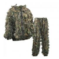 Quality OEM Sneaky 3D Leafy Hunting Suit 3D Leaf Camouflage Leafy Ghillie Suit for sale
