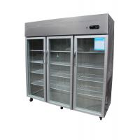 Quality Economical Vertical Three Door Commercial Refrigerator Freezer R134a for sale