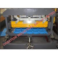 Quality Oven Baked Clour Aluminium Steptiles Roofing Sheet Corrugation Machine with 5 Tons Automatic Decoiler for sale
