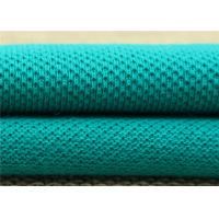 Weft Knitted Polyester Mesh Fabric , Jacquard Knit Fabric With Double Color