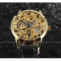 Buy cheap Gold Dial Steel Mens Wrist Watches With Gold Case 30m water proof For Boy from wholesalers