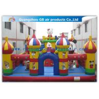 China Colorful Inflatable Amusement Park , Fun City Commercial Inflatable BouncersCastle on sale