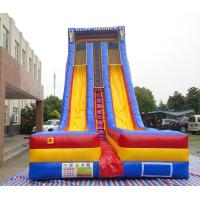 China 0.55mm PVC vinyl material used inflatable slide, 7m high inflatable fun slide inflatable dry slide for children on sale