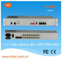 Quality SNMP ,4E1+4GE with Fiber 1+1,  and  2RS232/422/485 PDH Fiber Optical Multiplexer for sale