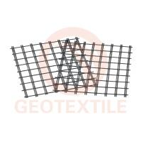 Quality 400Kn / 400Kn Uniaxial Geogrid , Low Elongation Pet Geogrid For Airport Road Reinforcement for sale