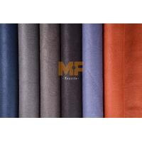 Quality Fake Leather Faux Suede Upholstery Fabric , Custom Auto Upholstery Fabric for sale
