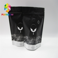 Quality Coffee Matte Black Stand Up Aluminum Foil Pouch Packaging Zip Lock Laminated for sale