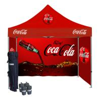 Quality Double Side Printing Folding Canopy Tent Promotional Pop Up Tents With Removable Walls for sale