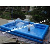 Best PVC tarpaulin two layer sky blue inflatable pool for water walking ball and paddler boat wholesale