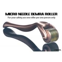 China Gold Handle Micro Needle Derma Roller for Body  /  Facial Aesthetic Skin Care on sale