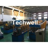 Quality Steel Galvanized Ridge Cap Roll Forming Machine With Hydraulic Cutting For Making Roof Panels for sale