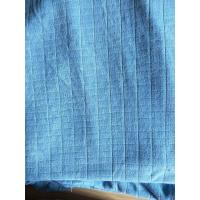 Quality Microfiber Factory Blue 1.5m Width 320gsm Density Weft Big Grid Car Cleaning Cloth for sale