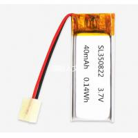 Quality MSDS UN38.3 approved 350822 3.7V 40mAh li-polymer battery for bluetooth earbud for sale