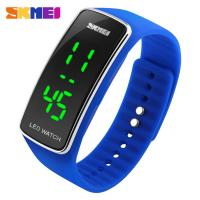 Quality Classical Silicone Strap LED Digital Wrist Watch Japanese Battery for sale