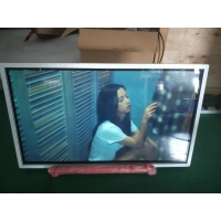 Quality white Wall Mounted metal frame  remote control 32 inch Touch Screen window digital signage for sale