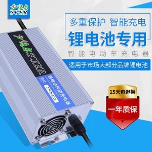 Quality Constant Current Fireproof Battery 24V Lithium Ion Charger With LED Indicators for sale