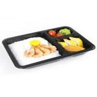 Quality PLA Biodegradable Take Away Food Packaging , Disposable Foam Blister Compartment Meal Tray for sale