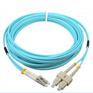 Corning cable SC/PC-LC/PC OM3 50/125 2.0mm aqua fiber optic hybrid jumper