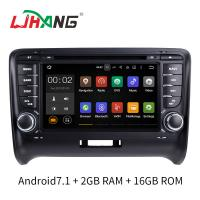 Quality Android 7.1 Car Radio Audi Car DVD Player With Wifi BT Gps AUX Video for sale