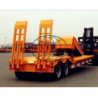 Quality Front Loading Low Bed Semi Trailer Dual Axle Detachable Type 40T Payload for sale