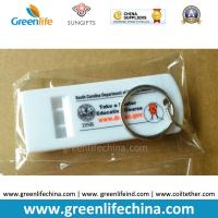Quality High Quality Fashionable White Flat Whistle Customized Printing w/Split Ring for sale