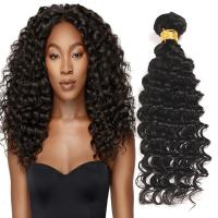 Quality Natural Black Virgin Human Hair Bundles Without Lice / Machine Double Weft for sale