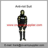 Wholesale Cheap China Black Police Fire-resistant Army  Tactical Anti-Riot Suit
