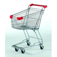 Best Small Supermarket Shopping Cart  60L Metal Wire Basket Trolley With Wheels wholesale