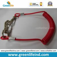 Quality Solid Red Spiral Coil Tool W/Hooks Tether 4mm Cord Dia for sale