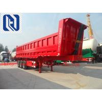 Quality Sinotruk Cimc End Dump Semi Trailer Trucks Trailer With Front Lifting 50 Ton 3 Axle for sale
