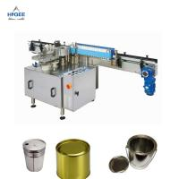 Quality High Accuracy Automatic Wet Glue Labelling Machine For Tin Cans Stable Performance for sale
