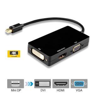 Quality Mini DisplayPort to HDMI DVI VGA Adapter 4K Mini DP Converter Thunderbolt Compatible 3 in 1 for sale