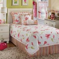 sheet bedding  Kaelyn-Blossom Twin Bedding Set includes: 1 Oversized comforter. 1 Bed skirt (17 inch drop). 2 Pillow shams (1 Pillow sham in twin). 2 Decorative accent pillows. DRY CLEAN ONLY. Features: 1 Bed skirt 2 Pillow shams 2 Decorative accent pillo
