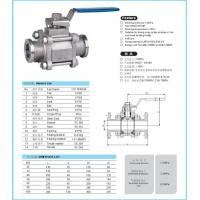Buy cheap BALL VALVE PN16 3PC VACCUM BALL VALVE from wholesalers