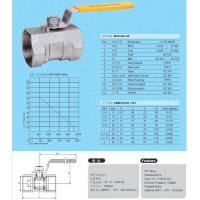 Buy cheap BALL VALVE 1PC STANDARD BORE 1000PSI STAINLESS STEEL THREADED END BALL VALVE from wholesalers
