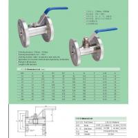 Buy cheap BALL VALVE Q41F-25.40 C.P.RFLANGE BALL VALVE from wholesalers