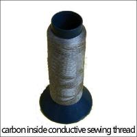 Carbon-inside conductive embroidery thread,anti static,ESD