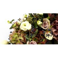 Funeral Wreath of Flowers and Foliages