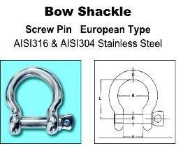 Buy Construction Industry Bow Shackle at wholesale prices