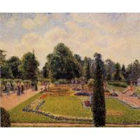 Quality Impressionist(3830) Kew_Gardens_-_Path_between_the_Pond_and_the_Palm_House for sale
