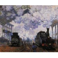 Quality Impressionist(3830) Arrival_at_Saint-Lazare_Station for sale