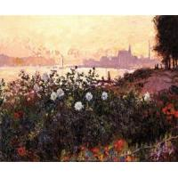Quality Impressionist(3830) Argenteuil,_Flowers_by_the_Riverbank for sale