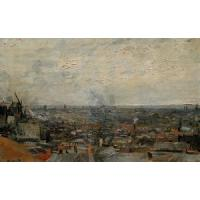 Impressionist(3830) View of Paris from Montmartre
