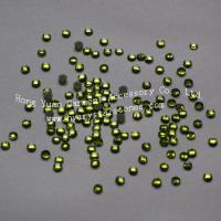 Quality Low lead rhinestone SS10-Peridot Low lead hot fix rhinestones for sale