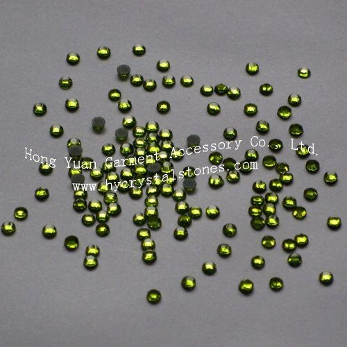 China Low lead rhinestone SS10-Peridot Low lead hot fix rhinestones
